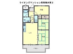 ライオンズマンション泉南樽井第2[5階]の間取り