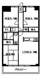 東京都杉並区今川3丁目の賃貸マンションの間取り
