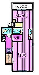 埼玉県さいたま市大宮区東町1丁目の賃貸アパートの間取り