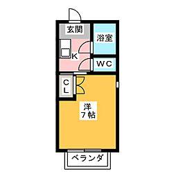 メゾンド・メモリアル[1階]の間取り
