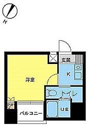スカイコート日本橋第3[8階]の間取り