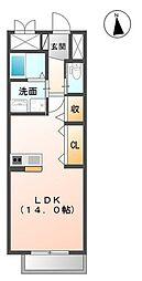 つくばエクスプレス 研究学園駅 徒歩3分の賃貸マンション 5階1Kの間取り