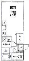 Kamiken西池袋マンション[1階]の間取り