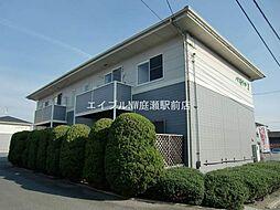 岡山県倉敷市中庄丁目なしの賃貸アパートの外観