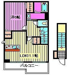 ローズパーク弐番館[2階]の間取り