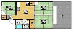 岡澤ハイツ[2階]の間取り