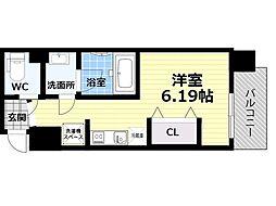Osaka Metro四つ橋線 肥後橋駅 徒歩5分の賃貸マンション 5階1Kの間取り