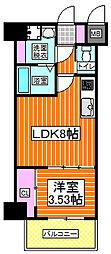 センターアヴェニュー守口 9階1LDKの間取り