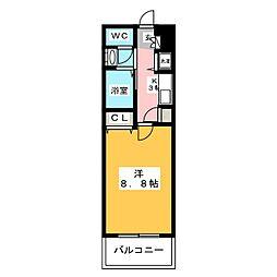 西田ビル[9階]の間取り