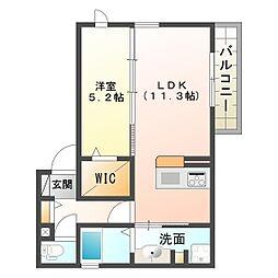 (仮称)明石市本町D-room[2階]の間取り