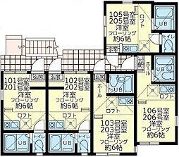 ユナイト 根岸考えるキャベージ[2階]の間取り