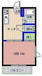 TOJU中根[203号室]の間取り