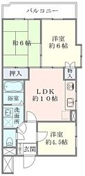 宇山パークマンション[201号室]の間取り