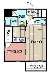 Studie TOBIHATA[7階]の間取り
