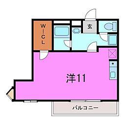 大府市 プラシードマンション中央[301号室]の間取り