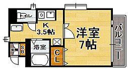 福岡県福岡市中央区梅光園2丁目の賃貸マンションの間取り