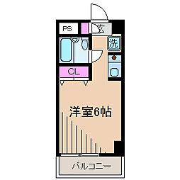 神奈川県横浜市港北区大豆戸町の賃貸マンションの間取り