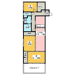 U・TOPIA HILLS[1階]の間取り