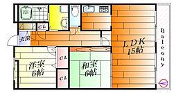 レーラッハアインス[3階]の間取り