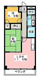 ラークグリーンヒル[2階]の間取り