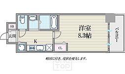 ララプレイス大阪West Prime[14階]の間取り