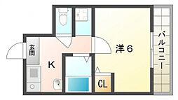 大源フレンドリーマンション[6階]の間取り