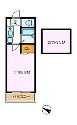 メゾンドマキ[205号室]の間取り