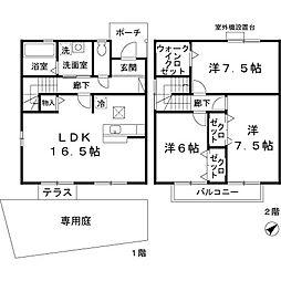 兵庫県姫路市西今宿5丁目の賃貸アパートの間取り