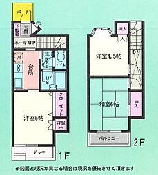 [テラスハウス] 埼玉県越谷市千間台西2丁目 の賃貸【/】の間取り