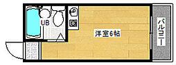 アトリエブルー太子橋[402号室]の間取り
