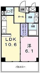 コンフォーティア東戸塚[6階]の間取り