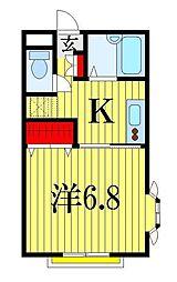 メゾン青柳[1階]の間取り