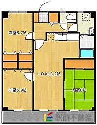カサグランデ筑紫[7階]の間取り