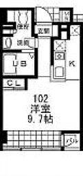 エス・キュート御影[1階]の間取り