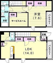 山陽電鉄本線 西舞子駅 徒歩10分の賃貸アパート