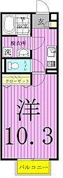 千葉県松戸市二十世紀が丘美野里町の賃貸アパートの間取り