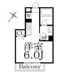 JR総武線 中野駅 徒歩9分の賃貸マンション 3階ワンルームの間取り