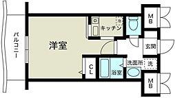 ノルデンハイム新大阪II[4階]の間取り