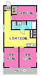 JUN東村山 A棟[2階]の間取り