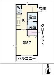 レジスタII[1階]の間取り