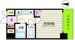 エステムコート梅田北[9階]の間取り