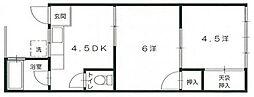 広島県広島市安佐南区祇園7丁目の賃貸アパートの間取り