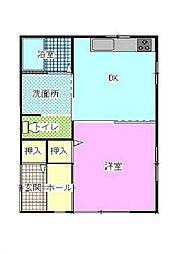 シャローム陽光台[1階]の間取り