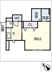仮)平戸橋町T様アパート 1階1Kの間取り