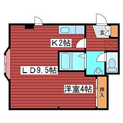 ローヤルハイツ月寒東34[3階]の間取り