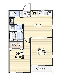 HSK葉山[2階]の間取り
