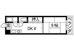 銀閣寺ハイツ[405号室号室]の間取り