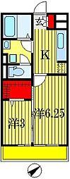 ブランシュールB[3階]の間取り