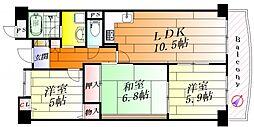 ステーションハイツ千里丘II[2階]の間取り