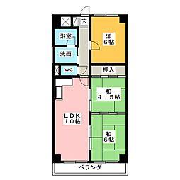 リバーサイドマンションM[4階]の間取り